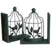Lily Manor Bird Cage Bookend (Set of 2)