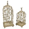 Lily Manor 2 Piece Decorative Romantic Bird Cage Set