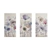 Lily Manor Classic Poppy 3 Piece Graphic Art Wrapped on Canvas Set