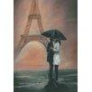Fairmont Park Kunstleinwanddruck Kissing in Paris
