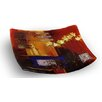 Jasmine Art Glass Square Platter