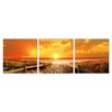 Porthos Home Seaside Sunset 3 Piece Photographic Print Set