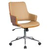 Porthos Home Solene High-Back Leather Office Chair with Arms