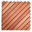 Vifah Decktile 30cm x 30cm Wood Tile In Natural