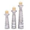 Urban Designs 3 Piece Ceramic Candlestick Set
