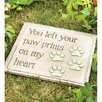 Paw Print Memorial Stone - Wind & Weather Garden Statues and Outdoor Accents