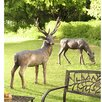 Wind & Weather 2 Piece Fiberglass Buck and Doe Garden Statue Set