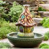 Resin Fairy House Fountain - Wind & Weather Indoor and Outdoor Fountains