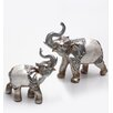 Burkina Home Decor 2 Piece Decorative Elephants Figurine Set
