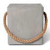 Lyon Beton Concrete Soft Edge Stool with Wheels and Rope