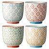 Bloomingville Ceramic Cup Set (Set of 4)
