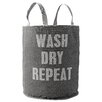 "Bloomingville ""Wash Dry Repeat"" Canvas Laundry Bag"