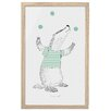 Bloomingville Juggling Badger Framed Graphic Art