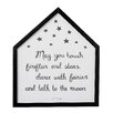 """Bloomingville House Shaped """"May You Touch Fireflies and Stars…"""" Framed Textual Art"""