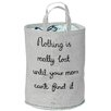 "Bloomingville ""Nothing Is Really Lost…"" Cotton Storage Bag"