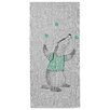 Bloomingville Juggling Badger Gray Area Rug