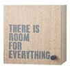 "Bloomingville ""There Is Room for Everything"" Wood Accent Cabinet"