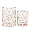 Bloomingville 2 Piece Metal Storage Basket Set