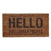 "Bloomingville ""Hello You Lovely People"" Doormat"