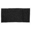 Bloomingville Hand-Woven Black Area Rug
