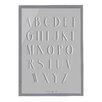 Bloomingville Alphabet Framed Textual Art