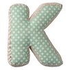 "Bloomingville ""K"" with Pattern Cotton Throw Pillow"