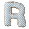 "Bloomingville ""R"" with Pattern Cotton Throw Pillow"