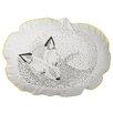 Bloomingville Sleeping Fox Cotton Throw Pillow