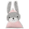 Bloomingville Rabbit Shaped Cotton Throw Pillow