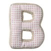 "Bloomingville ""B"" with Pattern Cotton Throw Pillow"