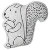 Bloomingville Squirrel with Acorn Cotton Throw Pillow