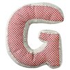 "Bloomingville ""G"" with Pattern Cotton Throw Pillow"