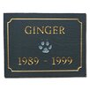The Stone Mill Slate Pet Memorial Plaque