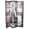 TheWoodTimes Paris 180 cm x 160 cm Room Divider (Set of 4)