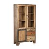 TheWoodTimes Houston Solid Mango Wood Display Cabinet