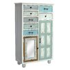 TheWoodTimes Mirror 7 Drawer Chest
