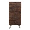 TheWoodTimes Button 5 Drawer Chest
