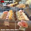 Vandue Corporation OnDisplay Cross Tier Acrylic Display Tiered Stand