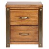 Borough Wharf Bilboa 2 Drawer Bedside Table