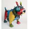 My Amigos Imports Large Recycled Metal Bulldog Figurine