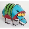 My Amigos Imports Recycled Metal Armadillo Figurine