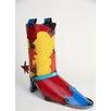 Cowboy Boot Metal Pot Planter - My Amigos Imports Planters