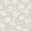 NuWallpaper Dandelion 5.48m L x 52cm W Foiled Roll Wallpaper