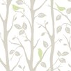 NuWallpaper Sitting in a Tree 5.48m L x 52cm W Foiled Roll Wallpaper
