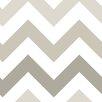 NuWallpaper Chevron 5.48m L x 52cm W Foiled Roll Wallpaper