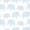 NuWallpaper Elephant Parade 5.48m L x 52cm W Foiled Roll Wallpaper