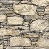 NuWallpaper Hadrian Stone Wall 5.48m L x 52cm W Roll Wallpaper