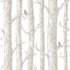NuWallpaper The Forest Grey 5.48m L x 52cm W Roll Wallpaper