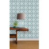 NuWallpaper Montauk Lattice Hemlock 5.49m L x 52cm W Roll Wallpaper