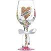 Lolita Just Married Wedding All Purpose Wine Glass
